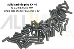 FXRG015006-40 Solid carbide pins KX40